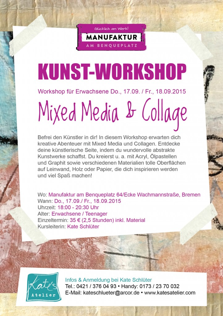 Media & Collage Workshop_Erwachsene_ Teenagers_Workshop_Manufaktur_Kate´s Atelier